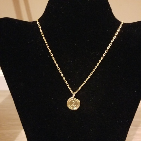 Miranda's Paparazzi Style Jewelry - Gold Necklace with Initial Z char.
